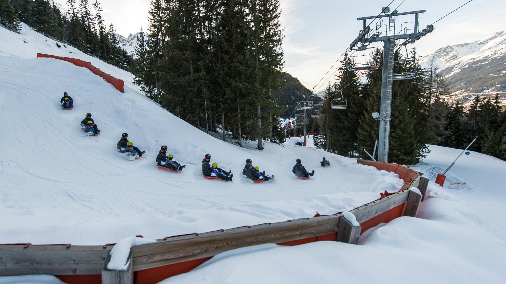Valfréjus, luge sur le domaine skiable