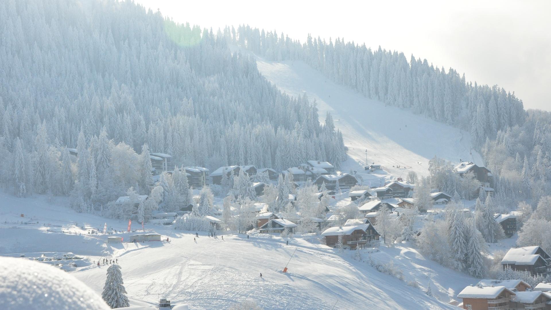 village ski aux pieds