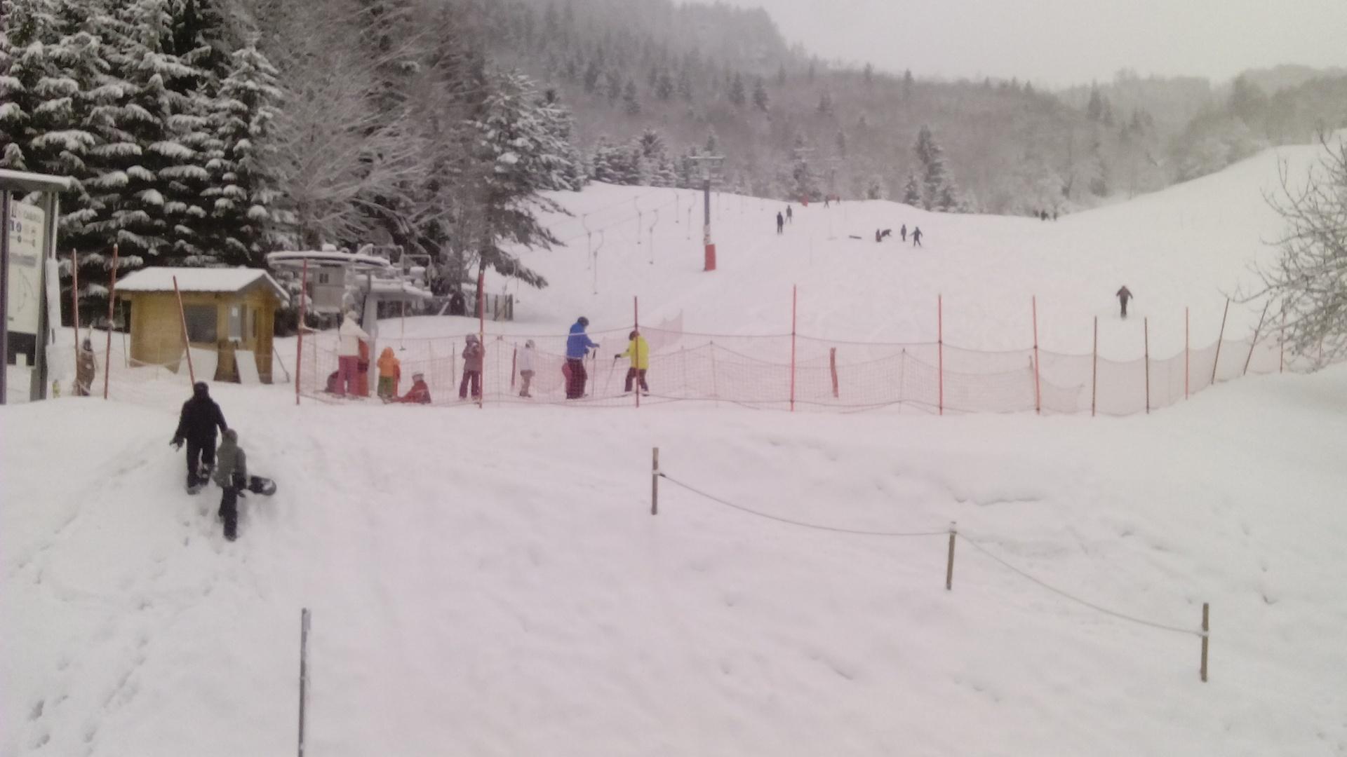 pistes avec skieurs