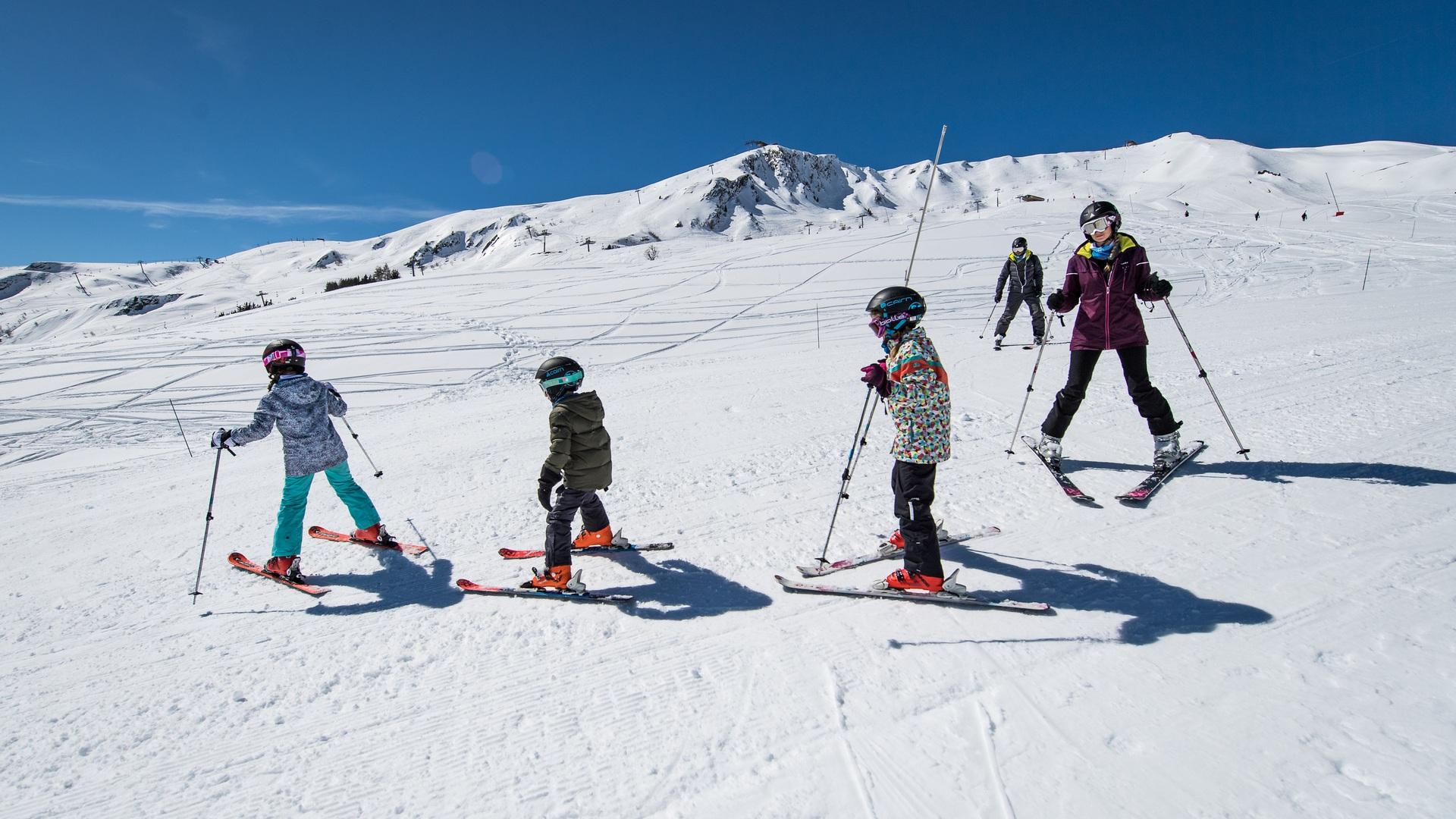 Le ski sur la piste des Ravières