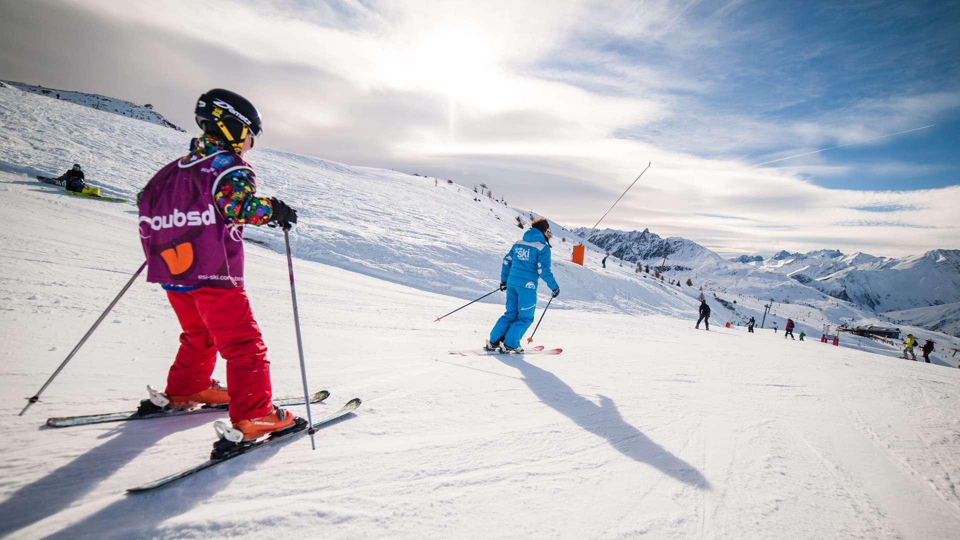 Cours de ski enfants à Valloire