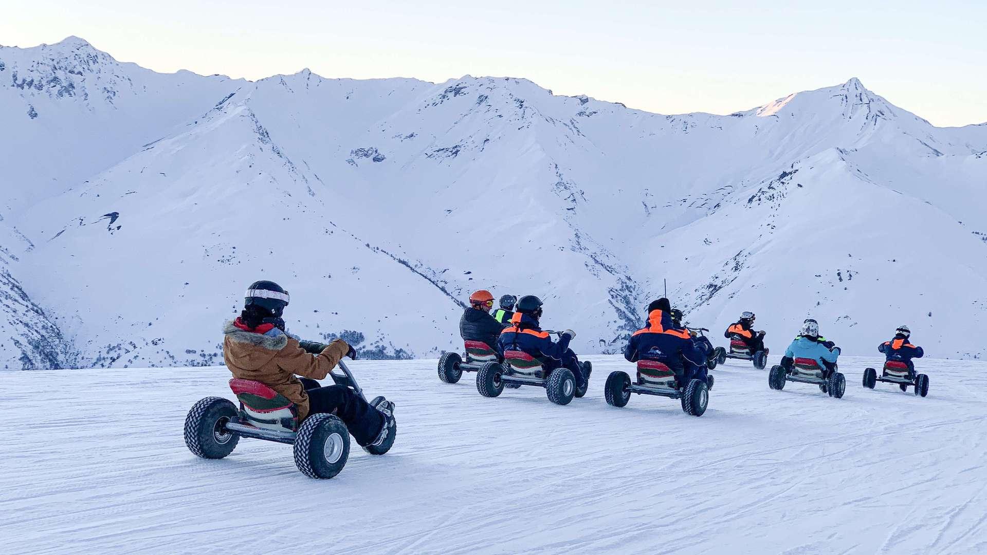 Descente en mountain Kart à Valloire sur le domaine Galibier Thabor