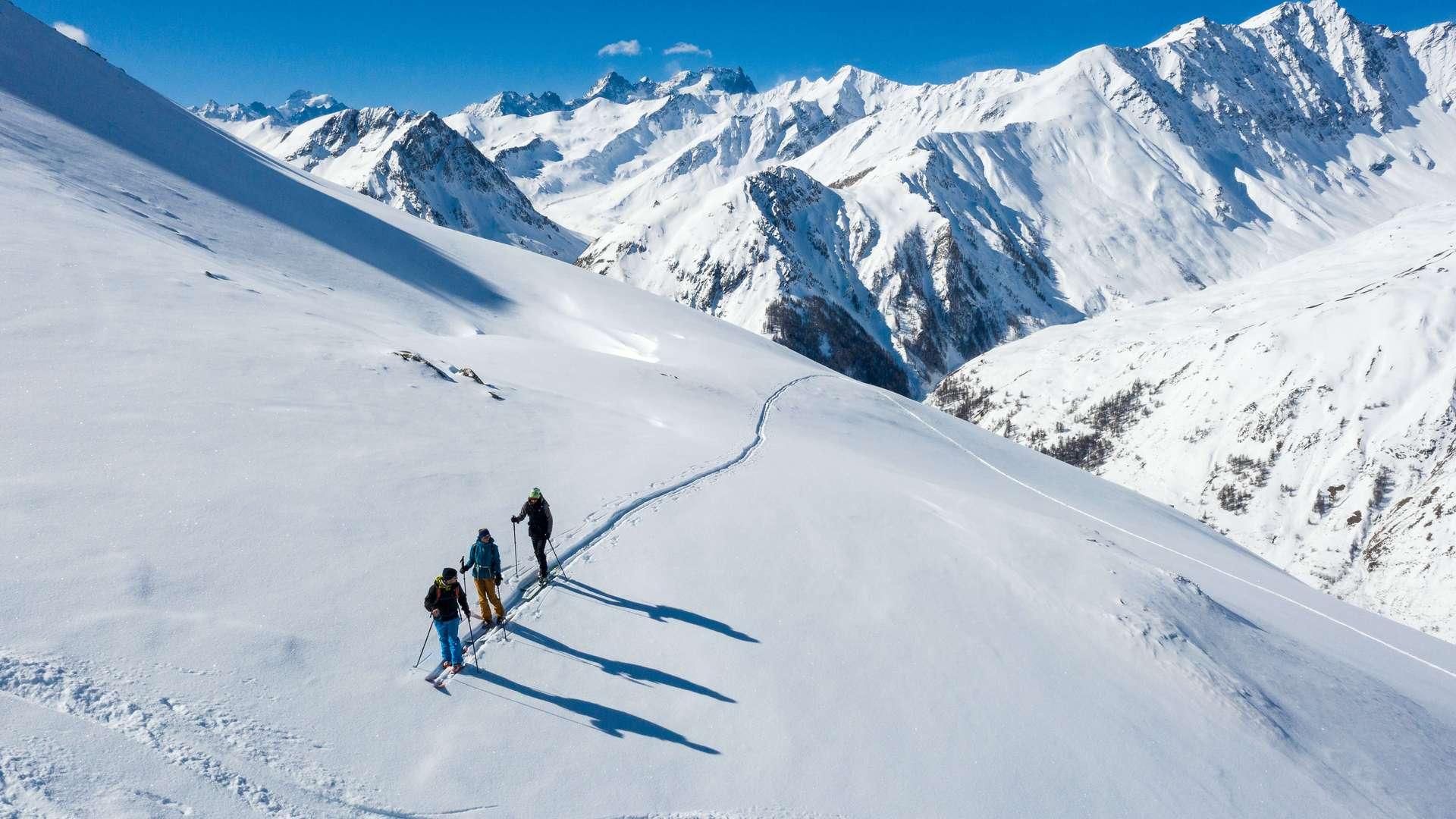 Ski de randonnée à Valloire sur le massif de la Sétaz