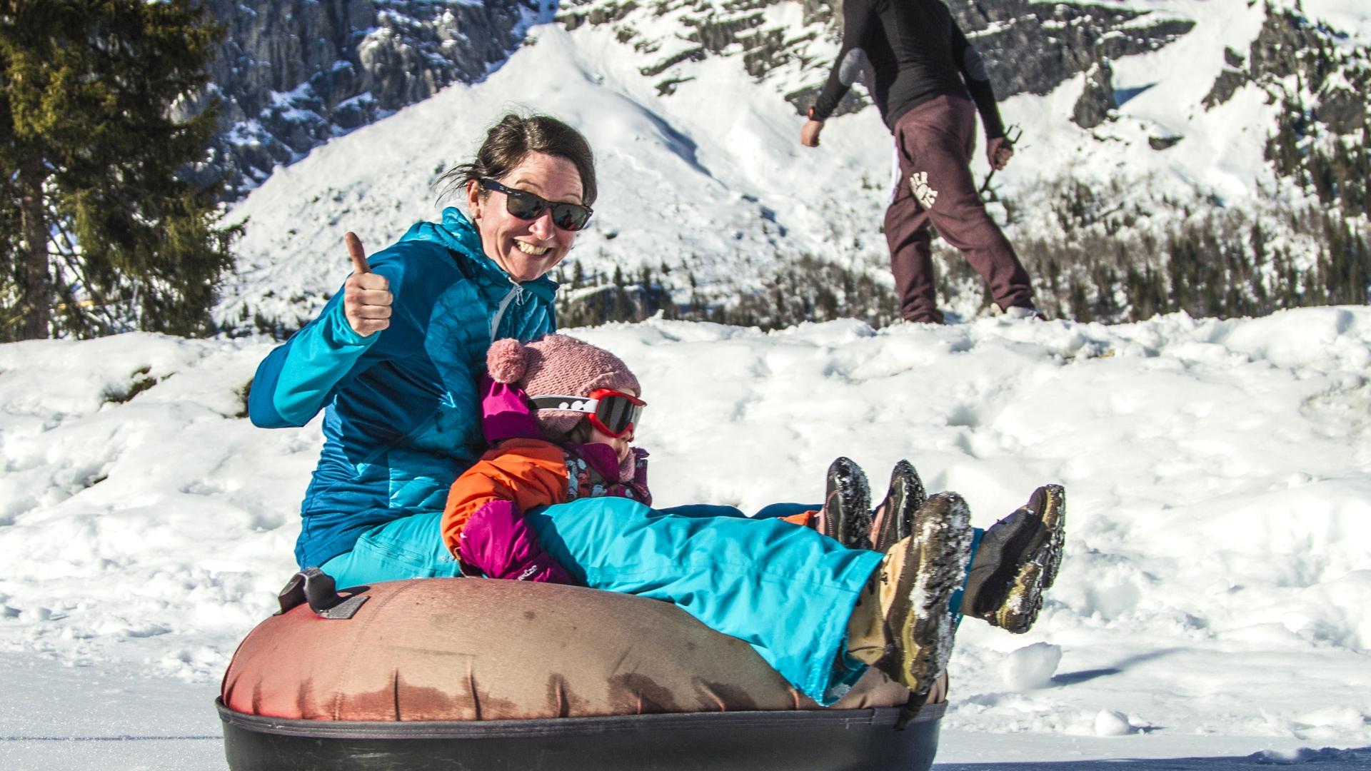 Snowtubing à Passy Plaine Joux