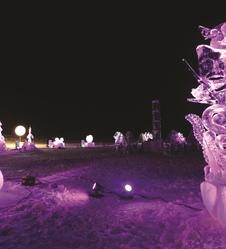 Sculptures sur Glace et ski à Valloire