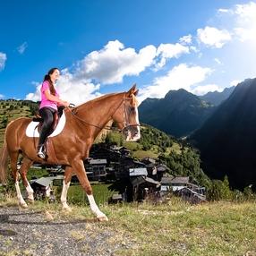 Promenade à cheval 1h