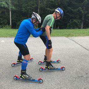 Initiation ski roue