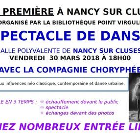 Spectacle de danse avec la compagnie Choryphée