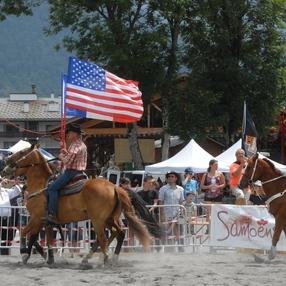 Samoëns American Festival - compétition Barrel racing