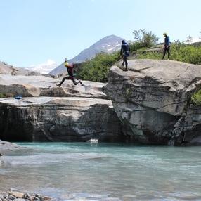 Canyon de L'Ecot à Bonneval sur Arc