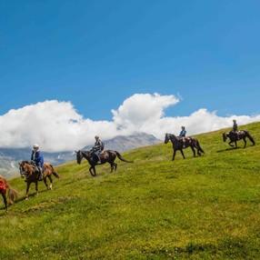 Journée à cheval en montagne