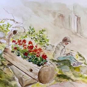 Stage de peinture : Carnet de croquis en Savoie