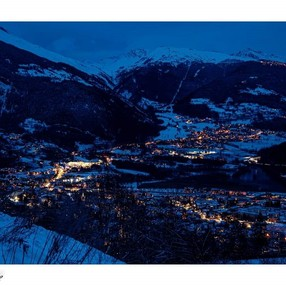 Bourg Saint Maurice vers vulmix en hiver