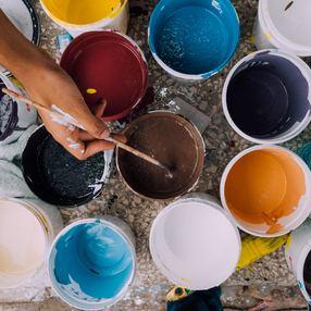 Atelier peinture sur bois et sur lauzes