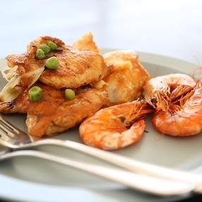 Atelier culinaire : l'étal du pêcheur, gambas et sardines
