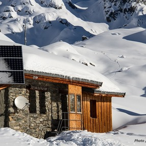 Mountain refuge of Le Ruitor
