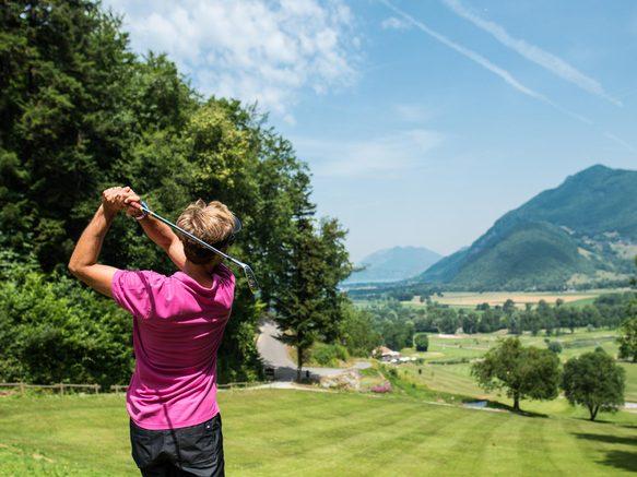 Giez Golf 18 & 9 trous vue Lac Annecy