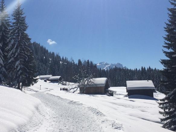 Chalets de Fimaloz en hiver