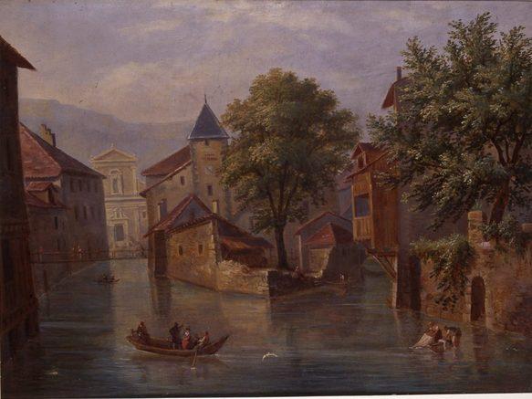 Annecy, Palais de l'Ile vu par Prosper Dunand