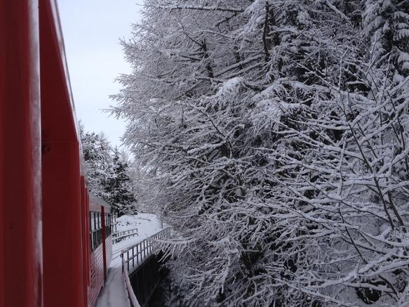 train montenvers hiver