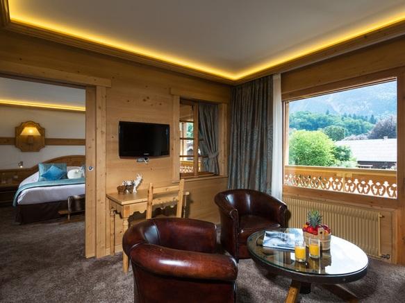 Salon et chambre suite luxe
