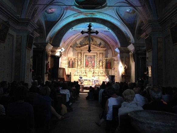 Concert dans l'église d'Albiez le Jeune