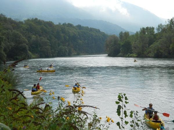Canoë kayak : descente du Vieux Rhône - La Bivouac 'Eau Lac
