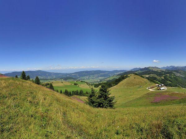 Sentier de randonnée - La pointe des Brasses, c'est le Mont-Blanc à portée de main. image