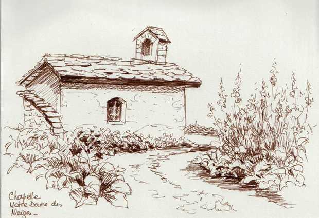 Stage de dessin et de peinture : Journée croquis en montagne
