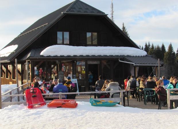 Restaurant La Tanière en hiver