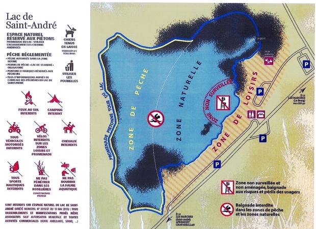 Lac Saint-André - Réglementation