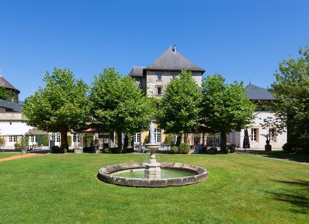 Jardin du chateau de Candie