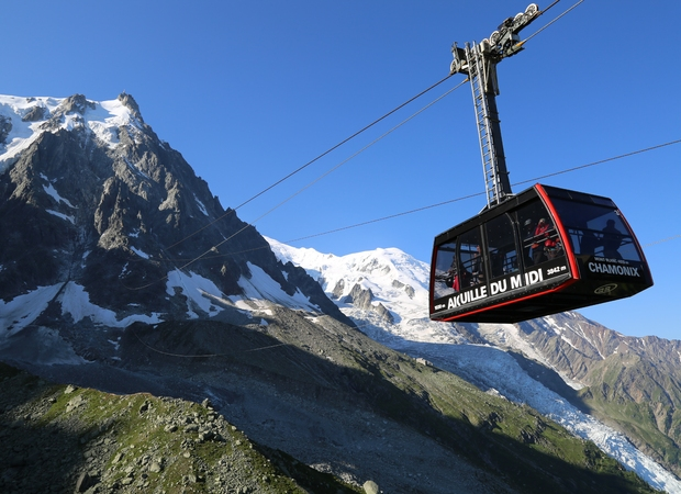 Téléphérique De L Aiguille Du Midi Savoie Mont Blanc Savoie Et Haute Savoie Alpes