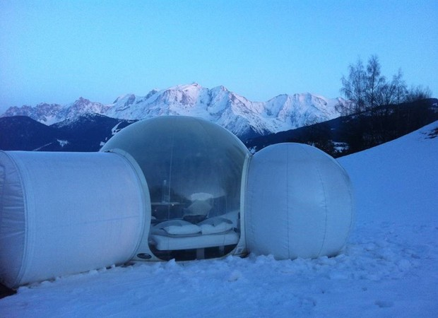 La bulle et le Mont-Blanc