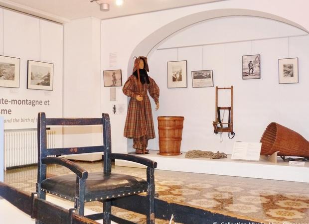 Musée Alpin Chamonix - salle repères conquêtes haute montagne