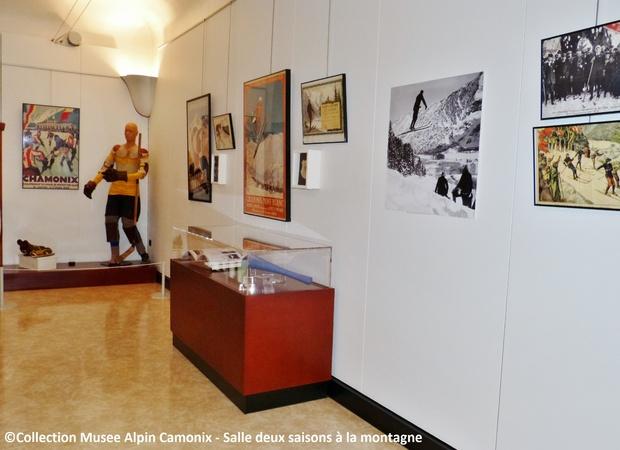 Musée Alpin Chamonix - salle deux saisons à la montagne