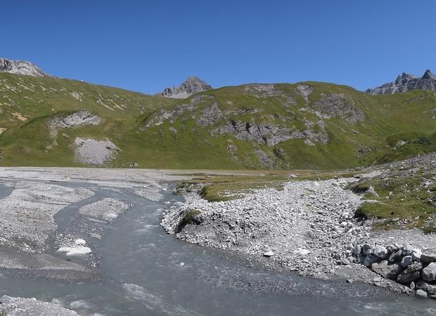 Lac asséché de la Glière