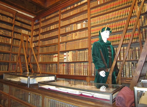 La bibliothèque du Château de Menthon-Saint-Bernard