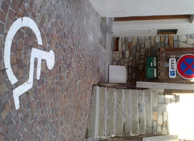 Place handicapée