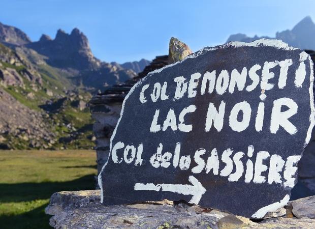 sur le parcours en direction du lac noir de Montséti