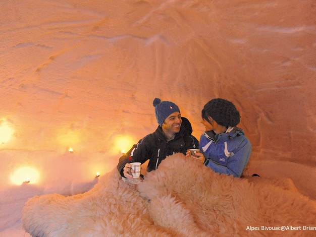 Interieur d'un igloo