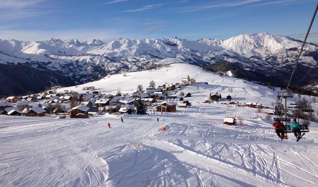 Vue du village en hiver