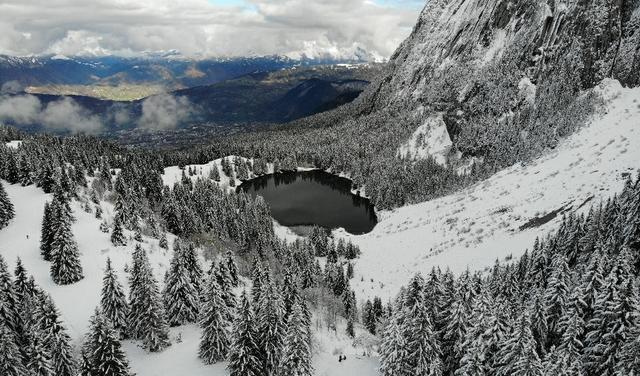 Lac Bénit en hiver