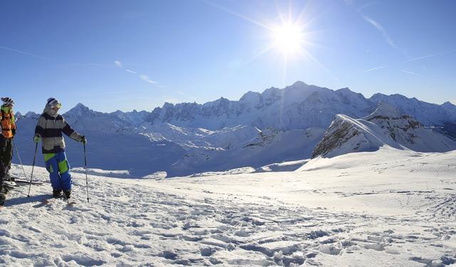 Flaine - panorama sur le massif du Mont Blanc