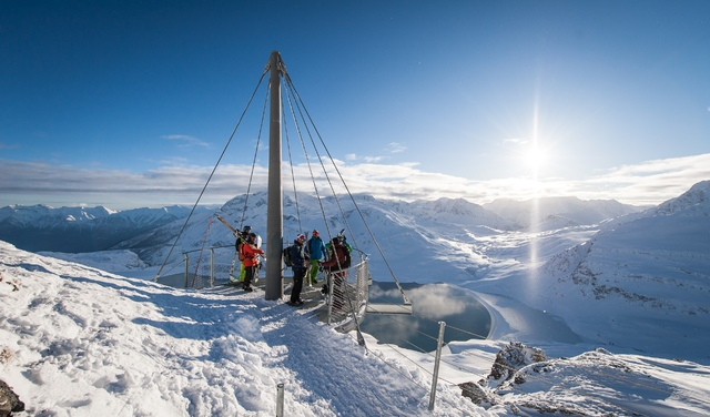 Vue exceptionnelle sur le Mont-Cenis l'hiver