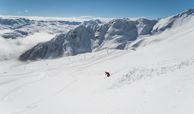 Ski hors piste aux Karellis