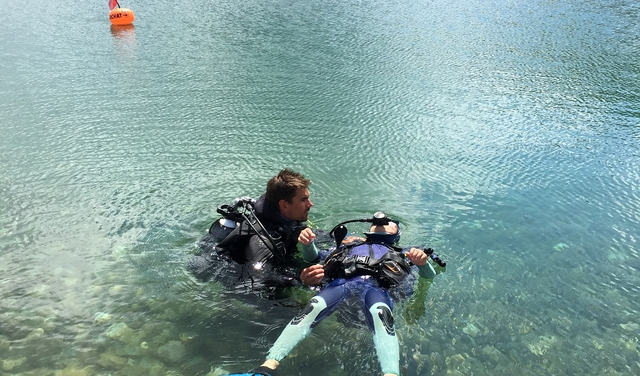 Plongée@LaToussuire dans le lac Eriscal