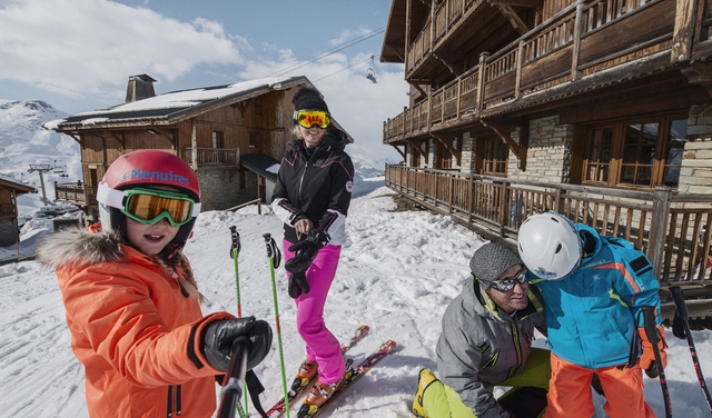 station skis aux pieds
