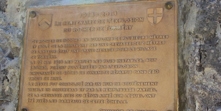 Plaque commémorative, 1913