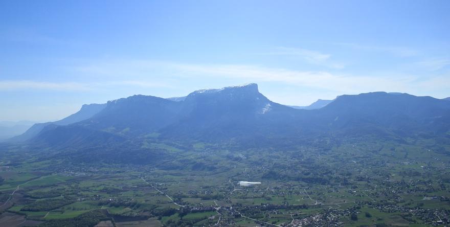 Vue sur le Granier depuis la Roche du Guet